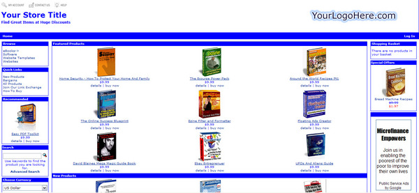 Product picture Turnkey Ebook store +  200 Ebooks + Resell Right